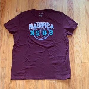 Nautica Men's Large Cranberry T-Shirt